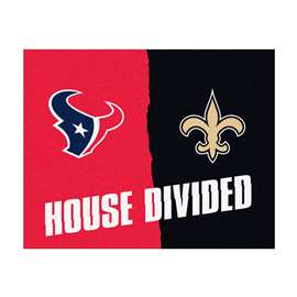 NFL House Divided - Texans / SaintsFloor Rug Mats