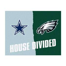 NFL House Divided - Cowboys / EaglesFloor Rug Mats