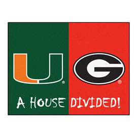House Divided: Miami / Georgia  House Divided Mat Rug, Carpet, Mats