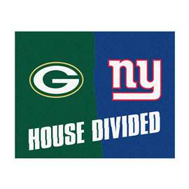 NFL House Divided - Packers / GiantsFloor Rug Mats