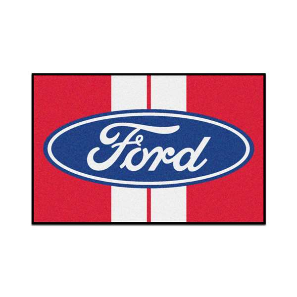 Ford - Ford Oval with Stripes  Starter Mat Mat, Rug , Carpet