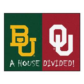 House Divided: Baylor / Oklahoma  House Divided Mat Rug, Carpet, Mats