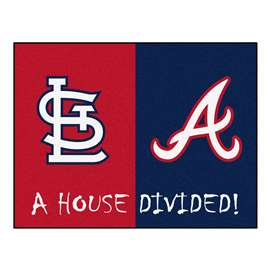 "MLB - Cardinals - Braves Divided Rug 33.75""x42.5""  House Divided Mat"