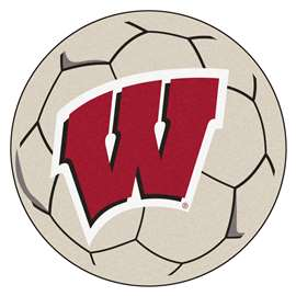 University of Wisconsin  Soccer Ball Mat, Rug , Carpet