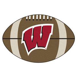 University of Wisconsin  Football Mat Mat Rug Carpet