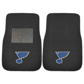 NHL - St. Louis Blues 2-pc Embroidered Car Mat Set Front Car Mats