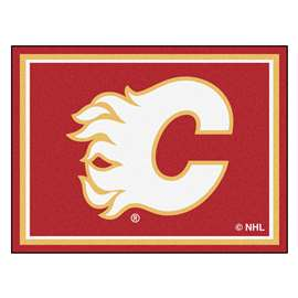 NHL - Calgary Flames Rug Carpet Mats 87 X 117 Inches