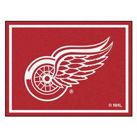 NHL - Detroit Red Wings Rug Carpet Mats 87 X 117 Inches