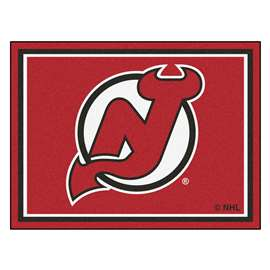 NHL - New Jersey Devils Rug Carpet Mats 87 X 117 Inches