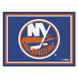 NHL - New York Islanders Rug Carpet Mats 87 X 117 Inches