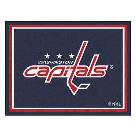 NHL - Washington Capitals Rug Carpet Mats 87 X 117 Inches