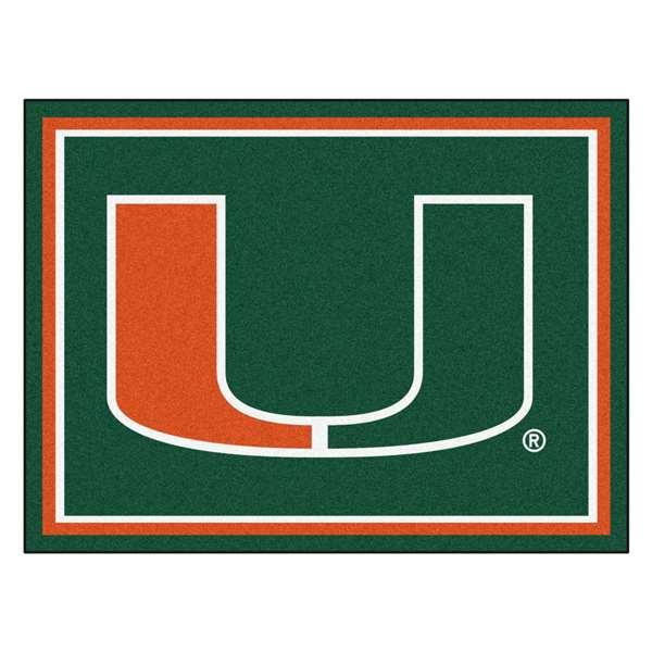 University of Miami  8x10 Rug Rug Carpet Mats