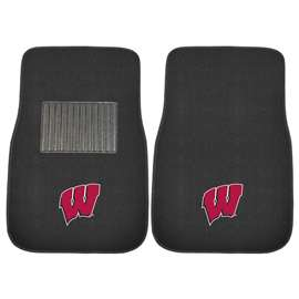 University of Wisconsin  2-pc Embroidered Car Mat Set