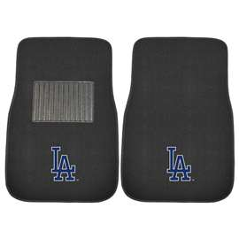 "MLB - Los Angeles Dodgers 2-pc Embroidered Car Mats 18""x27""  2-pc Embroidered Car Mat Set"