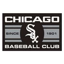"Chicago White Sox Baseball Club Starter Rug 19""x30""  Starter Mat"