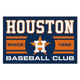 "Houston Astros Baseball Club Starter Rug 19""x30""  Starter Mat"