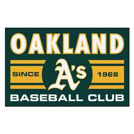 "Oakland Athletics Baseball Club Starter Rug 19""x30""  Starter Mat"