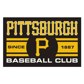 "Pittsburgh Pirates Baseball Club Starter Rug 19""x30""  Starter Mat"