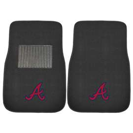 MLB - Atlanta Braves 2-pc Embroidered Car Mat Set  2-pc Embroidered Car Mat Set