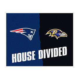 NFL House Divided - Patriots / RavensFloor Rug Mats
