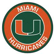 University of Miami  Roundel Mat Mat, Rug , Carpet