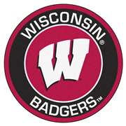 University of Wisconsin  Roundel Mat Mat, Rug , Carpet