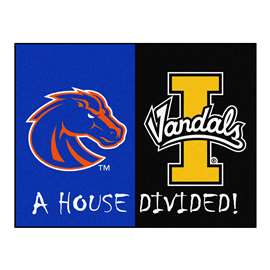 House Divided: Boise State  /  Idaho  House Divided Mat Rug, Carpet, Mats