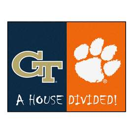 House Divided: Georgia Tech / Clemson  House Divided Mat Rug, Carpet, Mats