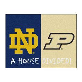 House Divided: Notre Dame  /  Purdue  House Divided Mat Rug, Carpet, Mats