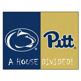 House Divided: Penn State / Pittsburgh  House Divided Mat Rug, Carpet, Mats