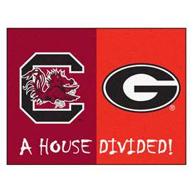 House Divided: South Carolina / Georgia  House Divided Mat Rug, Carpet, Mats