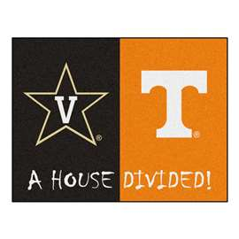 House Divided: Vanderbilt / Tenneessee  House Divided Mat Rug, Carpet, Mats