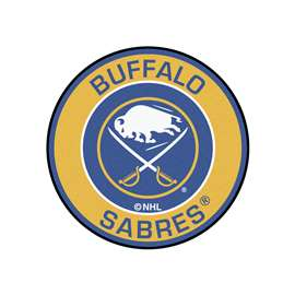 "NHL - Buffalo Sabres Mat, Rug , Carpet 27"" diameter"