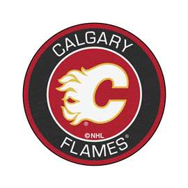 "NHL - Calgary Flames Mat, Rug , Carpet 27"" diameter"