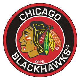 "NHL - Chicago Blackhawks Mat, Rug , Carpet 27"" diameter"