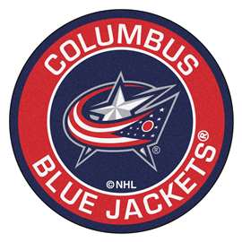 "NHL - Columbus Blue Jackets Mat, Rug , Carpet 27"" diameter"