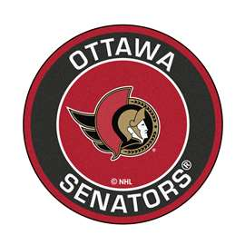 "NHL - Ottawa Senators Mat, Rug , Carpet 27"" diameter"