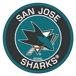 "NHL - San Jose Sharks Mat, Rug , Carpet 27"" diameter"
