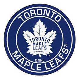"NHL - Toronto Maple Leafs Mat, Rug , Carpet 27"" diameter"