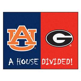 House Divided: Auburn / Georgia  House Divided Mat Rug, Carpet, Mats