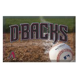 "MLB - Arizona Diamondbacks Scraper Mat 19""x30"" - Ball  Scraper Mat"