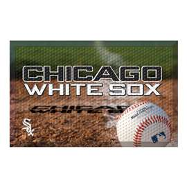 "MLB - Chicago White Sox Scraper Mat 19""x30"" - Ball  Scraper Mat"