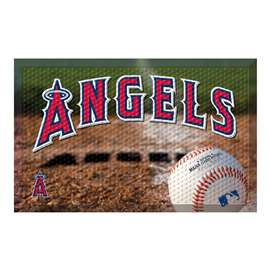"MLB - Los Angeles Angels Scraper Mat 19""x30"" - Ball  Scraper Mat"