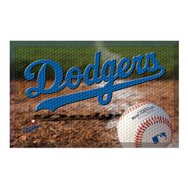"MLB - Los Angeles Dodgers Scraper Mat 19""x30"" - Ball  Scraper Mat"