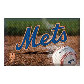 "MLB - New York Mets Scraper Mat 19""x30"" - Ball  Scraper Mat"