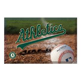 "MLB - Oakland Athletics Scraper Mat 19""x30"" - Ball  Scraper Mat"
