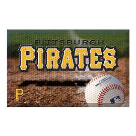 "MLB - Pittsburgh Pirates Scraper Mat 19""x30"" - Ball  Scraper Mat"