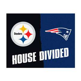 NFL House Divided - Steelers / PatriotsFloor Rug Mats