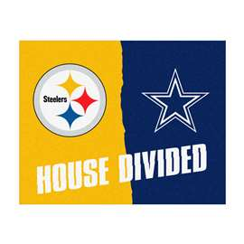 NFL House Divided - Steelers / CowboysFloor Rug Mats