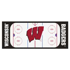 University of Wisconsin  Rink Runner Mat, Rug , Carpet
